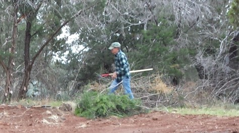 A man with a mission - clearing trails! (Courtesy of Billy Hutson)