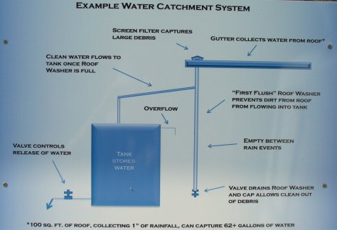 Basic design of a water catchment system. (Courtesy of Paula Richards)