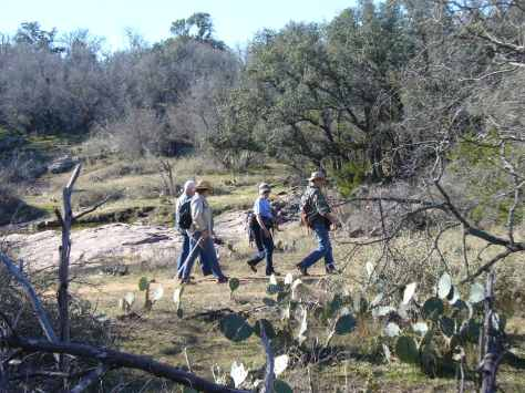 A walk on the wild side through the prickly pear cactus. (Courtesy of Paula Richards)